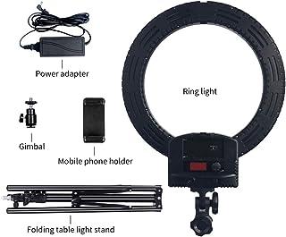 "Vamery 12"" LED Ring Lights and 2m Light Stands UK Standard Black"