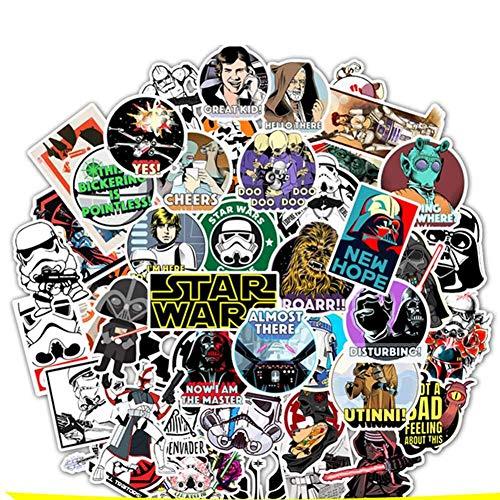 Zhongyanxin 50 Star Wars Gekritzel Sticker Superheld Skateboard Motorrad Trolley Schutzhülle Sticker Cartoon Sticker Wasserdicht und Lang Life Show Ihre Eigenen Stil