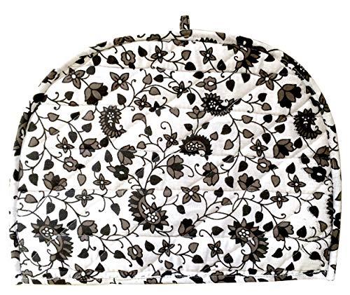 AUNERCART Black White Cotton Handmade Designs Tea Cozy Creative Tea Cosy Indian Mandala Tea Cozies Tea Pot Cover thumbnail image