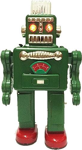 gran descuento Tr2011 Fumar Spaceman Robot Juguete de la la la Lata con Pilas Retro (verde  venta de ofertas