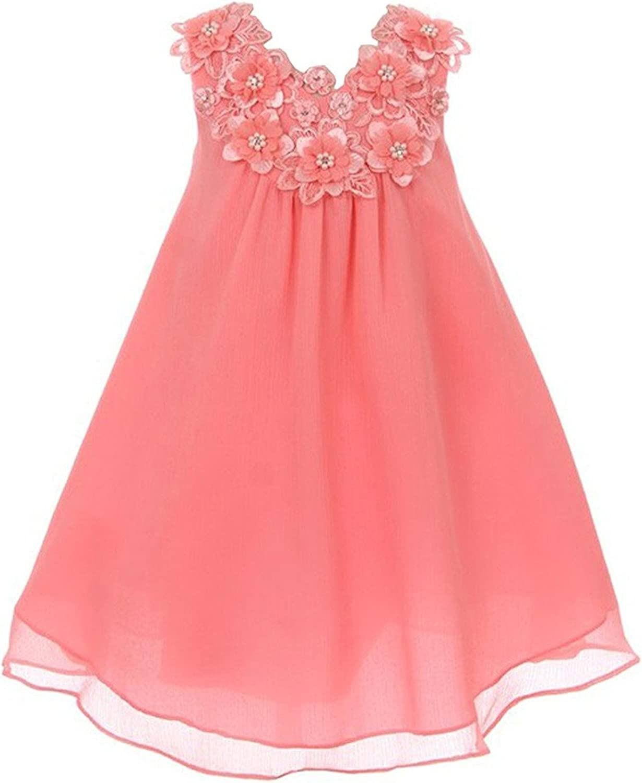 iGirlDress Chiffon 3D Flowers Special Occasion Dress Size 2-12