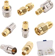 SMA Adapter Kit 8 in 1 w/Case SMA Male to N, F, SO239, PAL, MCX Female Connector