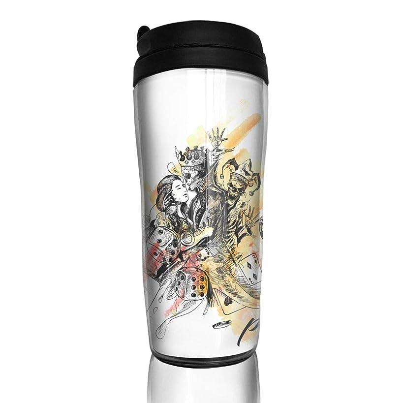 Wodehous Adonis Casino Games - Poker Fashion Insulated Traveler Coffee Mug Tumbler Coffee Cup 12 Ounce