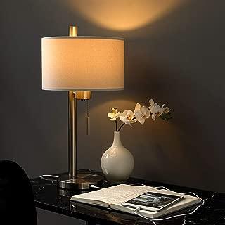 Modern Table Lamp with USB Port for Bedroom, Living Room, Study Desk, 23