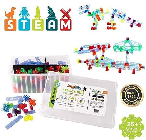 nuevo estilo Brackitz Estructuras Educativas Juguete de construcción Stem Stem Stem para Niños PreK-6   320 Piezas  tienda en linea