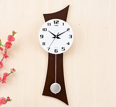 Sunhai European-style Living Room Creative Wooden Wall Clock, Mute Personality Swing Clock,