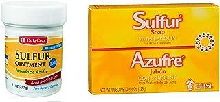 De La Cruz Sulfur Ointment and Sulfur Soap (Variety 2 Pack)