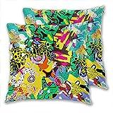 anzonto Fundas de almohada estampadas geometría abstracta para el hogar,...