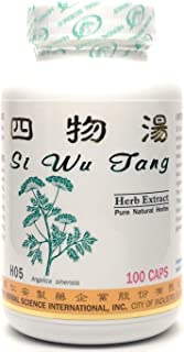 Four Herbs Formula for Women Dietary Supplement 500mg 100 Capsules (Si Wu Tang) H05 100% Natural Herbs
