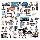 AnvFlik TV Greys Anatomy Stickers,Funny Waterproof Vinyl Decal Stickers for Kids Students Teens Adults,for School Bag, Pencil Case,Waterbottle,Phone,Computer,Cars,Bicycles,1 Pack 50 Pcs