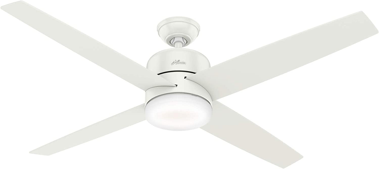 Hunter Advocate Indoor Wi-Fi Ceiling Fan with LED Light and Remote Control, 60