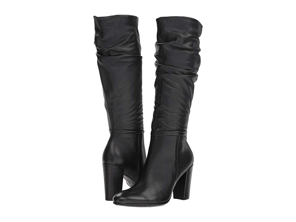 ECCO Shape 75 Slouch Boot (Black Calf Leather) Women