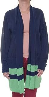 Linen Cardigan Navy Green (X- Large)