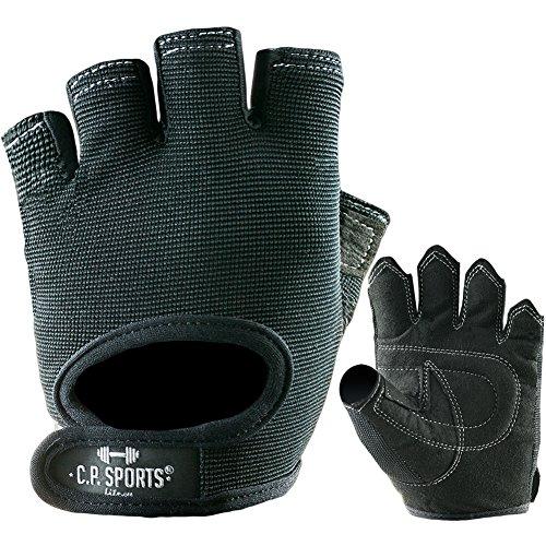 Power-Handschuh Komfort F4-1 Paire de gants de sport, Gants de sport, gym, loisirs / Couleur : noir / pour hommes et femmes, Homme Mixte Femme, L