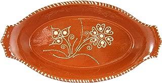 Vintage Portuguese Glazed Terracotta Hand Painted Serving Platter (N.2 13