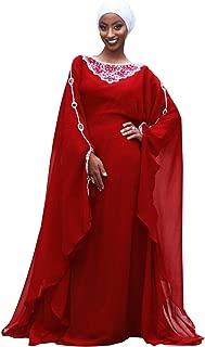 Alexis Kaftan for Women - Beautiful Party Wear Kaftan 3/4 Sleeves 100% Chiffon Dress