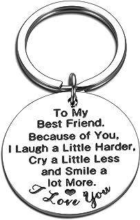To My Best Friend Keychain Gift for Girl Boy Birthday Graduation Christmas Anniversary Wedding Gift to Him Her Friendship ...