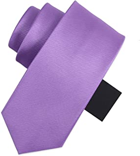 Classic Solid Color Tie Men's Tie Wedding Work 145 × 8cm Solid Color Tie to Send Father, Husband, Friend Gifts CQQO (Color : E)