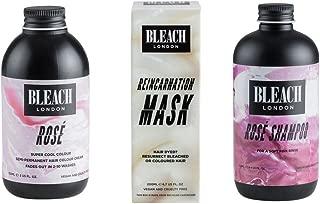 (3 PACK) Bleach London Rose Shampoo x 250ml & Bleach London Rose Super Cool Colours Rose x 150ml & Bleach London Reincarnation Mask x 200ml