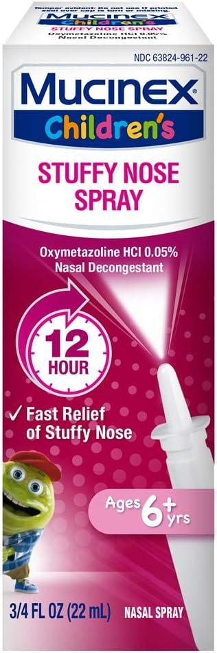 Mucinex Children`s Stuffy Nose Nasal Spray 2 National uniform Ranking TOP18 free shipping of oz .75 Pack