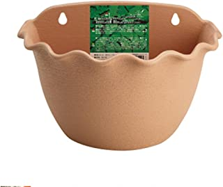 LINK SOLAR Wall Hanging Planter Plant Flower Pot Wall Mounted Planter Basket Herb Flower Wall Pots with S-Type Metal Hooks(Light Brown, 3044)