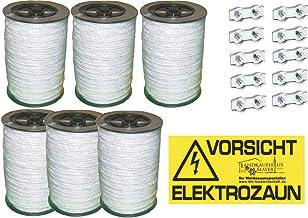 6x0,4 *Made in Germany* Elektrozaun Weidezaun Litze 200 m 8mm Weidezaunseil