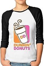 Women's Dunkin-Donuts-Logo Logo Basic Tee T Shirt Sleeve Crew Neck Tshirt for Women Shirts