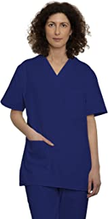 Medical Scrub Set Unisex Medical Uniform with Top and Pants - for Professionals in Hospital Healthcare - 100% Sanfor Cotto...