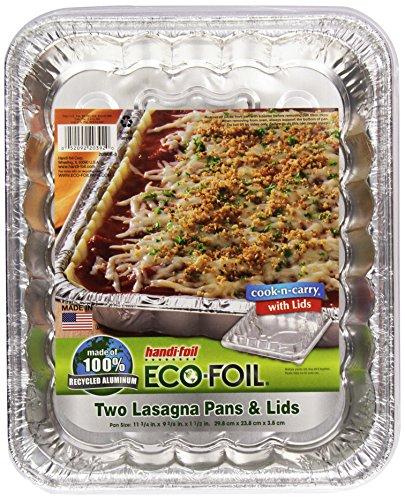 Handi Foil Cook-N-Carry Lasagna Pan, w/Lid, 2 ct