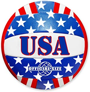 Patriotic Stars and Stripes USA Flag Design Official Size Volleyball