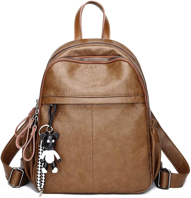 Amayay Daypacks Erwachsene Vintage Stylisch Backpack Dame Handtasche Umhngetasche Groe Kapazitt Einfacher Stil Dual Use Freizeit Reiserucksack Xxbb (Farbe   Colour, Größe   One Größe)