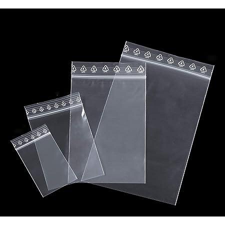 4 x 6 cm pochettes qualit/é alimentaire 50 microns pr/él/èvement aux normes europ/éennes de production plastique Lot 100 sachets /à fermeture zip format 40 x 60 mm