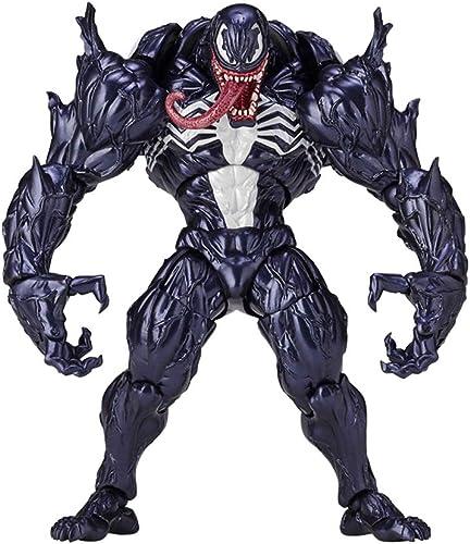 MI ER- Venom Model - Gemeinsames bewegliches Venom Model Toy Rot - Weißhplastik Größe  18 cm (Farbe   B)