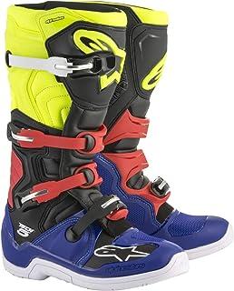 Alpinestars Botas MX Tech 5 Azul-Negro-Amarillo-Fluorescent-Rojo (EU 42/US 8, Azul)