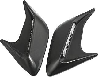 uxcell 2 Pcs Black Plastic Auto Car Hood Air Flow Vent Sticker Cover Decor