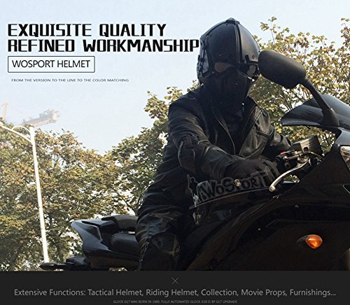 Full-covered taktischen Outdoor Motorrad Helm mit Maske Schutzbrille für Jagd Paintball Military Cosplay Movie Prop - 7