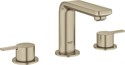 """Grohe 20578ENA Lineare 8"""" Widespread Two-Handle Bathroom Faucet, Medium W, Brushed Nickel"""