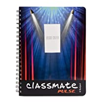 Classmate Soft Cover 6 Subject Spiral Binding Selfie Notebook, Single Line, 300 Pages