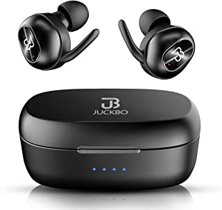 $49 Get Wireless Earbuds,Bluetooth Headphones 5.0 Deep Bass HiFi Stereo Sound Earphones 16H Playtime with Charging Case and Built in Mic for Sports Running (Black)