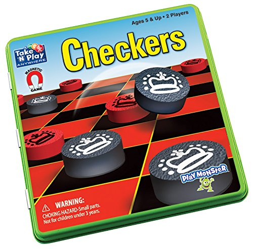 Patch Products Prendre 'n' Play n'importe où magnétique Game-Checkers, d'autres, Multicolore