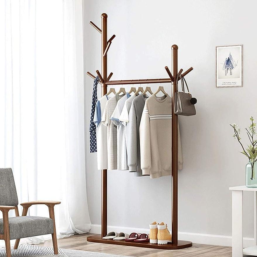 セッティングライセンスディレクターシンプル 棚が付いている耐久の純木のコートの棚の立場のコートの木の廊下の靴の棚 (Color : Rustic Brown, Size : One layer)