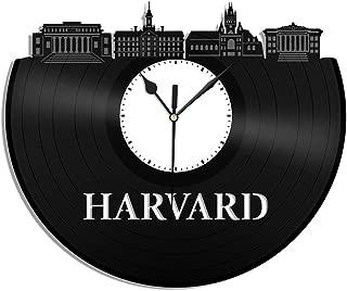 VinylShopUS - Harvard Vinyl Wall Clock University College Memoribilia Retro Decor