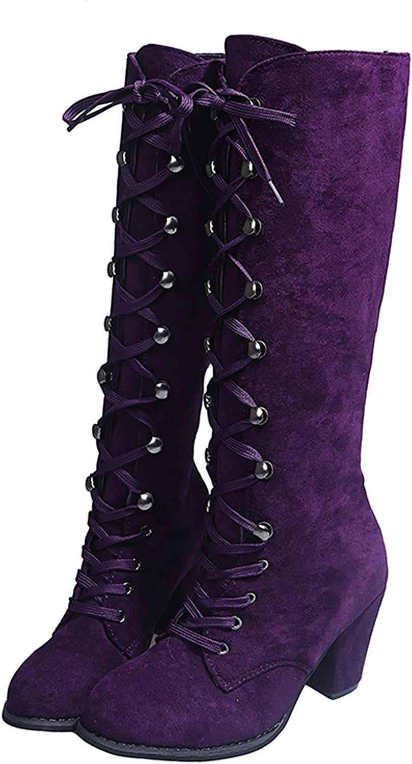 Los Angeles Mall Gyouanime Shoes Women Winter Boots Chunky Washington Mall Strappy Fashion Casual