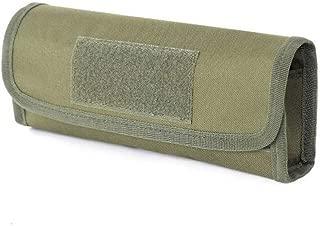 Mix Vogue Tactical Buttstock Shotgun Rifle Shell Holder Cheek Rest Pouch Rifle Buttstock with 18 Rifle Ammo Holder, Nylon Tactical Hunting Rifle Shotgun Buttstock Bag Accessories Belt Strap