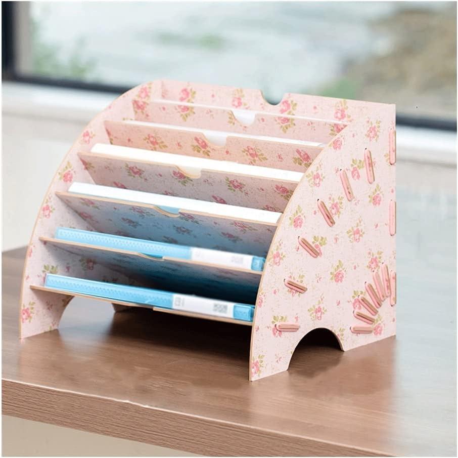 Wood Super beauty product restock quality top! Fiberboard Fan-Shaped Desktop excellence Organizer R File Folder