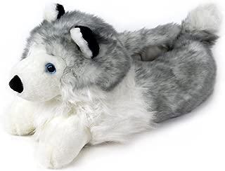 Husky Slippers - Plush Dog Animal Slippers