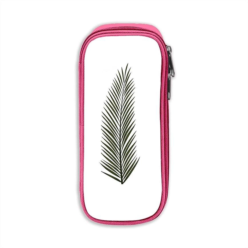アート忌み嫌う野望文具収納 Pen Bag 文具ケース?文具ホルダーペンケース事務用品机上用品 Palm Leaf Pink