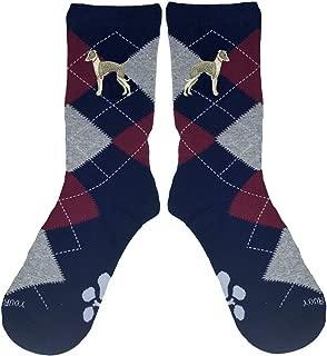 Italian Greyhound Embroidered Argyle Socks