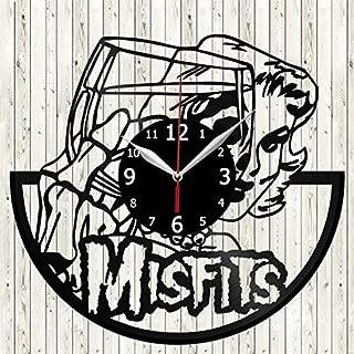 Misfits Vinyl Record Wall Clock Decor Handmade Unique Design Original Gift