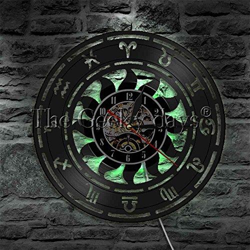 Zodiac Sign Wandleuchte Bar Sign LED Wallwood Tischlampe NachttischlampeBatterietischlampe